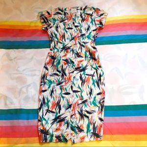 80s Graphic Print Dress Esprit